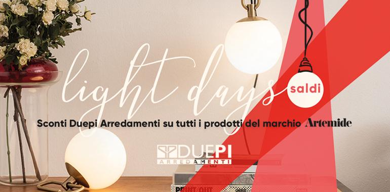 Light Days, tempo di sconti sui prodotti Artemide